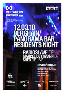 Berghain & Panorama Bar Residents Night @ Discoteque